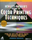 img - for HP Guide to Color Printing Techniques:: How to Get the Most from Your Black and Color HP DeskJet Printer by Padwick, Gordon (1995) Paperback book / textbook / text book