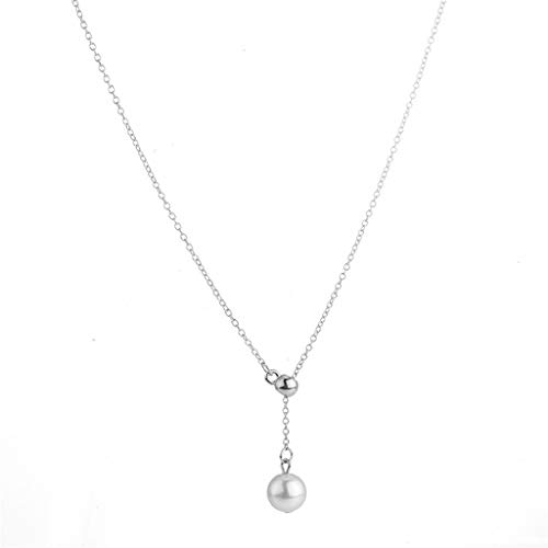 Clearance! Hot Sale! ❤ Fashion Korean Daily Clavicle Chain Fashion Accessories Elongated Pearl Necklace Under 5 Dollars Valentine
