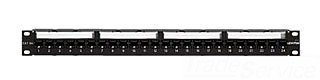 Leviton Extreme Flat Cat 6A 110-Style Patch Panel, 24 Port, Cable Management Bar by Leviton