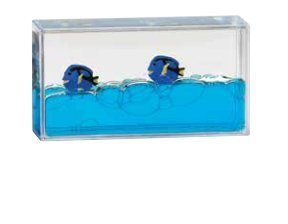 Star Magic Mini Liquid Wave Paperweight (Blue Fish)