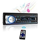 Car Stereo with Bluetooth,Valoin In-Dash Single Din Car Audio Stereo Receiver Multi-function USB/SD/AUX/FM/MP3 Car Radio Receiver (Black-A)