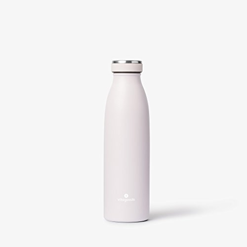 Vitagoods Spout Vacuum Sealed Stainless Steel Water Bottle, 500mL, Light Lavender