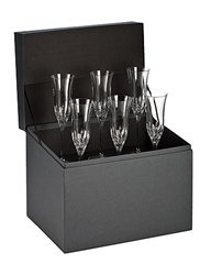 Waterford Lismore Essence Flute Deluxe Gift Box Set of 6 by Waterford