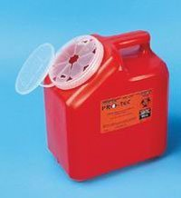 PT# -63000-016 016- Container Sharps Pro-Tec Red 3gal Ea by, Pro-Tec Container ()
