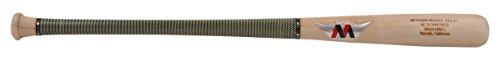 MPowered MFUZD Wood Baseball Bat, Virtually Unbreakable Carbon Fiber Kevlar Wrap On Handle, Birch, 31 Inch Bat with 2.5 Inch Barrel, Raw (MFUZDBIR444-31)