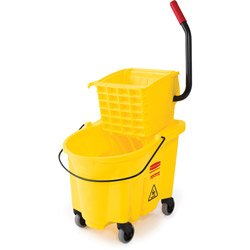 Rubbermaid 26-Quart Side Press Mop Bucket & Wringer Combo Yellow - Rubbermaid Wavebrake Bucket