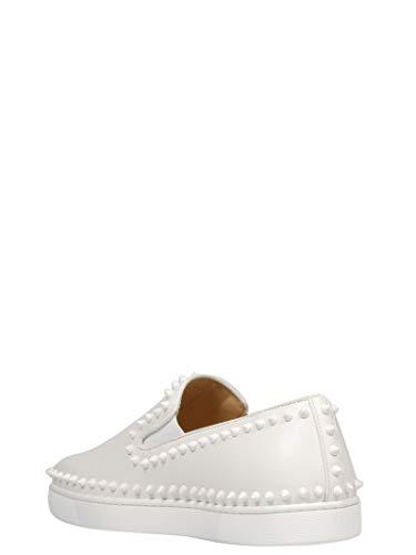 Skate Femme 31304443047 Blanc Chaussures Christian Cuir Louboutin De WZFHqS8w8c