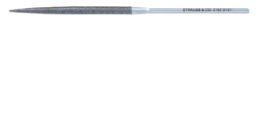 Strauss Needle File, Diamond Grit, Crossing, Medium, 160mm Length, 4.7mm Width, 2.2mm Thickness by Strauss