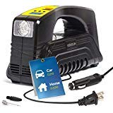 Kensun Bike Tire Pump 110V AC Home / 12V DC Car Electric Powered Inflator Air Compressor