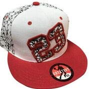 - LEADER OF THE GAME Chicago #23 Crackle hat in Bulls Colors White and red jordan's #