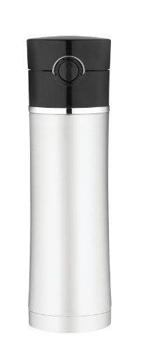 Thermos Sipp Stainless Steel Insulated 16-Ounce Drink Bottle, Black