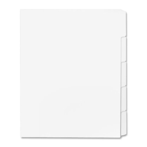 Print-on Tab Dividers, Letter, 90 Bright, Unpunched, 50ST/BX
