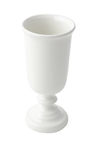 Bon Chef 4014 Aluminum Colonial Water Goblet, 11 oz Capacity, 7-1/4'' Height, Sandstone White (Pack of 6) by Bon Chef