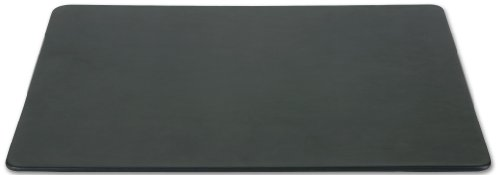 Dacasso Black Leather 17 by 14-Inch Conference Table Pad
