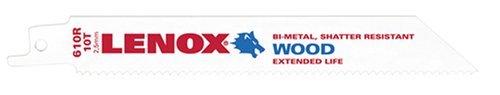 (LENOX Tools General Purpose Reciprocating Saw Blade with Power Blast Technology, Bi-Metal, 6-inch, 10 TPI, 25/PK)