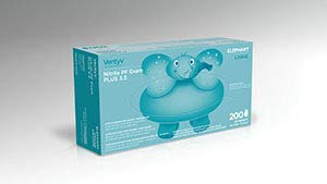 Ventyv Nitrile Powder Free Exam Glove Plus 3.5 (Elephant), Violet Blue, Large 10336101 by Ventyv (Image #1)