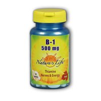 Vitamin B-1, 500 mg, 50 tabs by Nature's Life (Pack of 2)