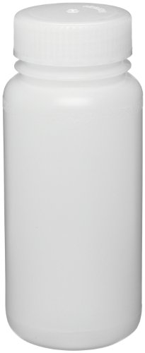 Bel-Art Precisionware Wide-Mouth 1000ml (32oz) High-Density Polyethylene Bottles; Polypropylene Cap, 53mm Closure (Pack of 6) (F10625-0018) (Polyethylene High Density Bottles)