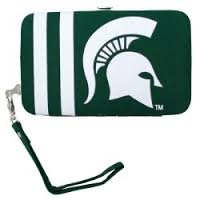 Littlearth NCAA Michigan State Spartans Shell Wristlet