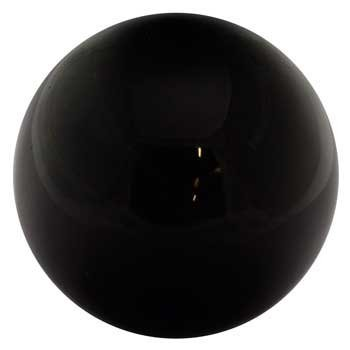 Crystal Ball Ouiji Séance Toy Search For Wisdom Divination Tool 50mm Black Obsidian 2''