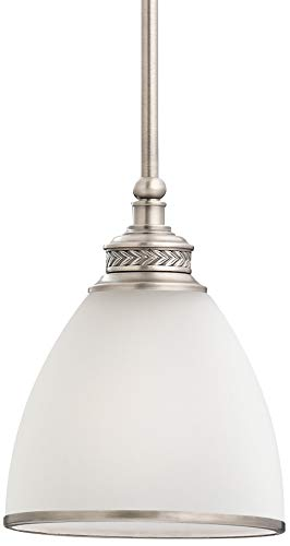 (Sea Gull Lighting 61350-965 Laurel Leaf 1-Light Mini-Pendant in Antique Brushed)