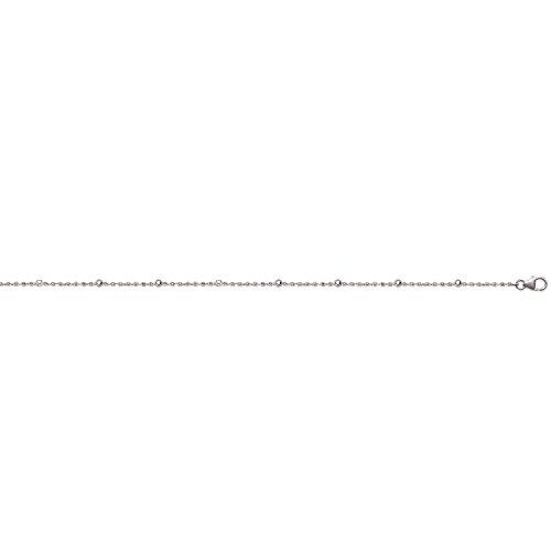 Bracelet en Argent 925/000 Rhodié - Maille et Petites Boules - 18cm