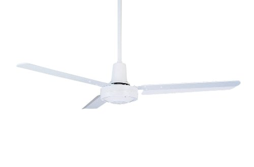 Emerson Ceiling Fans HF948W Industrial Fan, Indoor Ceiling Fan With 48-Inch Blades, Appliance White Finish ()