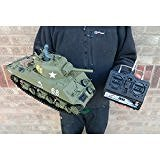 Heng Long Radio Remote Control RC M4A3 Sherman Tank 1:16th Scale Ready to...