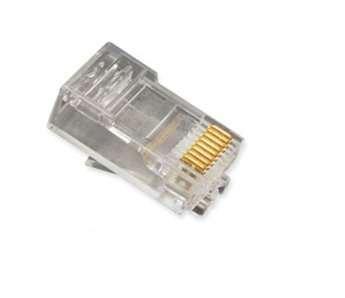 ICC Mod Tel Plugs Oval Strand 8P8C (ICC-ICMP8P8CRD) (Plugs Tel Mod)
