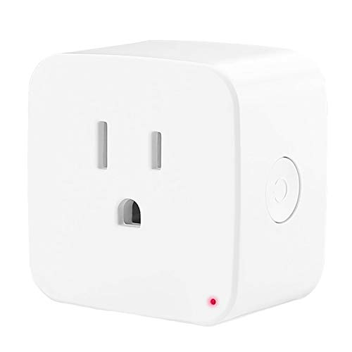 Smart Plug [2 PACK] TMRLIFE WiFi Mini Socket Home Electrical Timer Outlet, Remote Control Power Switch, No Hub Required, Compatible with Alexa, Echo Dot and Google Home