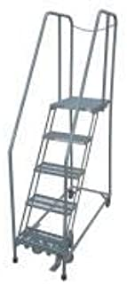 product image for Cotterman 1005R2630A2E20B4D3C1P6 - Rolling Ladder Steel 80In. H. Gray