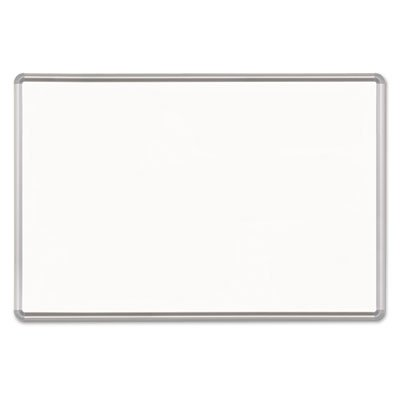 Magne-Rite Magnetic Dry Erase Board, 96 x 48, White, Silver Frame, Sold as 1 Each