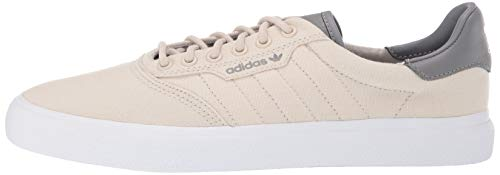adidas Originals Men's 3MC Regular Fit Lifestyle Skate Inspired Sneakers Shoes, Clear Brown/Grey/White, 4 M US