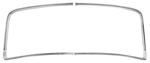 66-67 Chevelle GTO Skylark Cutlass Coupe Rear Window Molding, 4pc Set
