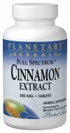 Planetary Herbals Cinnamon Extract Full Spectrum 200mg, for Healthy Blood Glucose Levels,120 Tablets