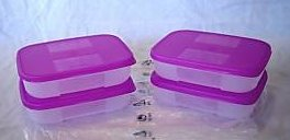[Tupperware Freezer Mates 4 Piece Small Set] (Tupperware Freezer Mates)