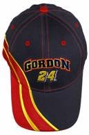 Jeff-Gordon-24-Dupont-Chase-Authentics-High-Pass-Blue-With-Red-Yellow-Accents-Hat-Cap