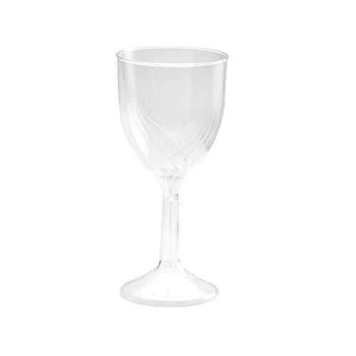 WNA Classicware One-Piece Wine Glasses, 6 oz., Clear, 10/Pack
