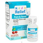 Homeolab Kid's Relief Pain & Fever, Cherry Flavored 0.85 fl. oz. Homeopathic Medicines for Kids 2+ years (a) - 2pc