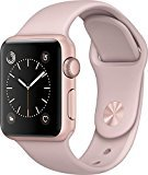 Apple - Apple Watch Series 2 42mm Rose Gold Aluminum Case Pink Sand Sport Band - Rose Gold Aluminum MQ142LL/A