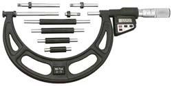 (Starrett 714EFLZ LCD Interchangeable Anvil Micrometer, Friction Thimble, Lock Nut, 16-20
