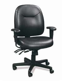 lti-function Leather Task Chair-LM59802A (Eurotech Multifunction Task Chairs)