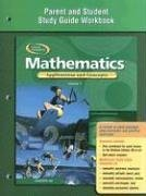 Mathematics: Applications and Concepts, Course 3, Parent and Student Study Guide Workbook