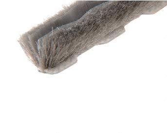 CRL Zipper Pile Weatherstrip .187 Backing - .300 Pile Height - 100 Roll