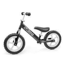 Cruzee Ultralite Balance Bike (4.4 lbs) for Ages 1.5 to 5 Years | Black - Best Sport Push Bicycle for 2, 3, 4 Year Old Boys & Girls- Toddlers & Kids Skip Tricycles on The Lightest First Bike (Girl On A Bicycle)