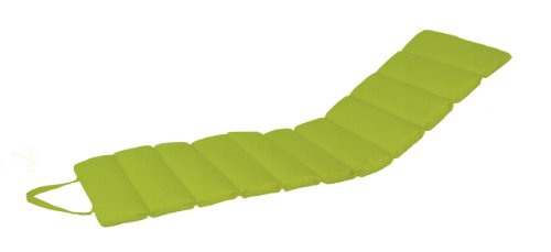 Paradise Cushions Indoor/Outdoor Roll-Up Channel Chaise Cushion, Kiwi