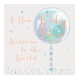 Tarjeta de felicitación para recién nacido. Ilustrado a mano ...
