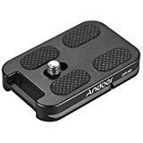 Andoer QR-60 Universal Quick Release Plate Aluminum Alloy 1/4' Screw Mount with Attachment Loop for Arca-Swiss Standard Ball Head Tripod for Canon Nikon Sony DSLR Camera