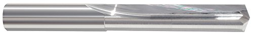 (Morse Cutting Tools 50728 Straight Flute Drill Bits, Solid Carbide, Bright Finish, 140 degree Notch Point, 2 Flutes, 1/16