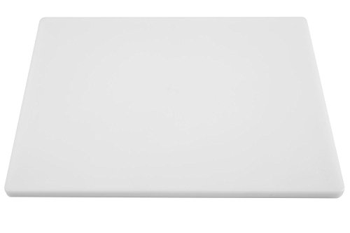 Thick White Poly Large Cutting Board for Food Service - 20 x 15 x 3/4 Inch Plastic ()